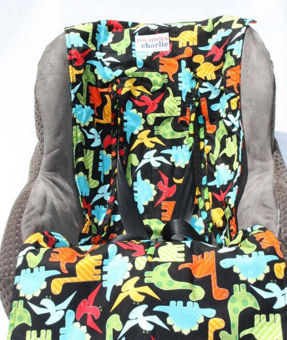 items similar to dino delight baby car seat liner on etsy. Black Bedroom Furniture Sets. Home Design Ideas