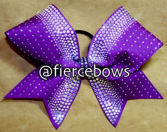 Plum Crazy Rhinestone Bow