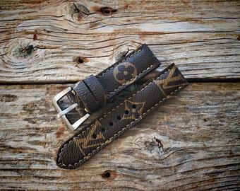 Artisan watch strap handmade louis vuitton strap Apple Watch