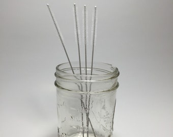 Straw Cleaner-Mason Jar Straw Cleaner-Reusable Straw Cleaner-Stainless Steal Straw Cleaner