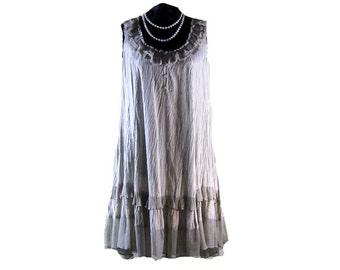 VINTAGE BOHEMIAN DRESS, Vintage baby doll dress, hippie dress, boho dress, womens clothes, bohemian dress, full cicrcle skirt dress