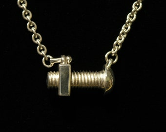 Pendant- Sterling Nut and Bolt necklace