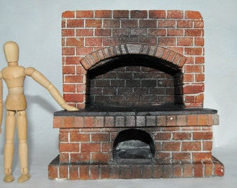 1:12 Scale Blacksmith Forge. Doll House Miniature Fireplace/Rustic/inglenook. Made to order OOAK. Aged how you like. Can be Brick or Stone