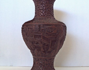 Cinnabar Lacquer Vase, China, 19th/20th century