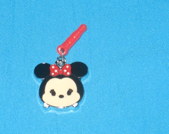 Chibi Minnie Cell Phone Dust Plug Charm Attached
