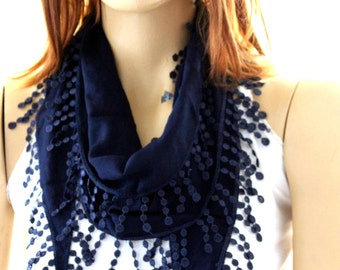 navy blue cotton scarf - scarves - woman scarves - summer scarf - navy scarves - gift -woman - navy scarves - navy blue scarves - navy scarf
