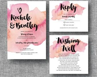 Watercolour Wanderlust Wedding Invitations