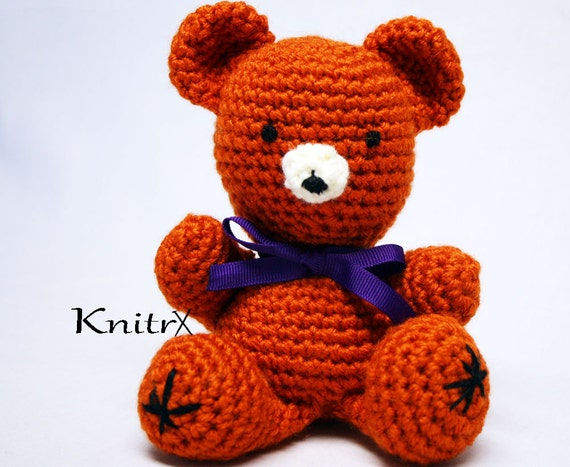 Amigurumi Baby Bear : Items similar to Baby Bear Amigurumi Bear My First Teddy ...