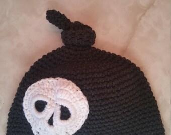 Items Similar To Beautiful Crocheted Halloween Beanie Hat