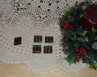 SALE - Set Of Four Holiday Present Button Covers