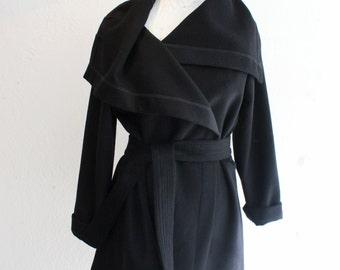 Short winter coat, designer coat, black short coat, winter coat