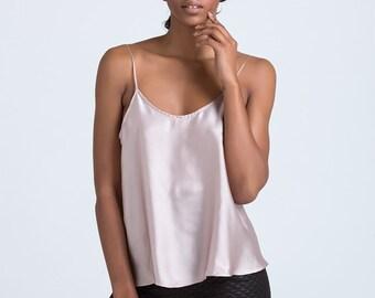 Pearl vest top, Silky top, Silk top, Neglige