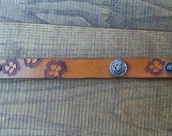 leather bracelet flower
