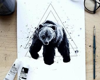 Midnight Bear - Art Print