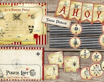 Pirate Birthday Party Package - DIY Printable - Pirate Birthday Party -  Digital Pirate Party