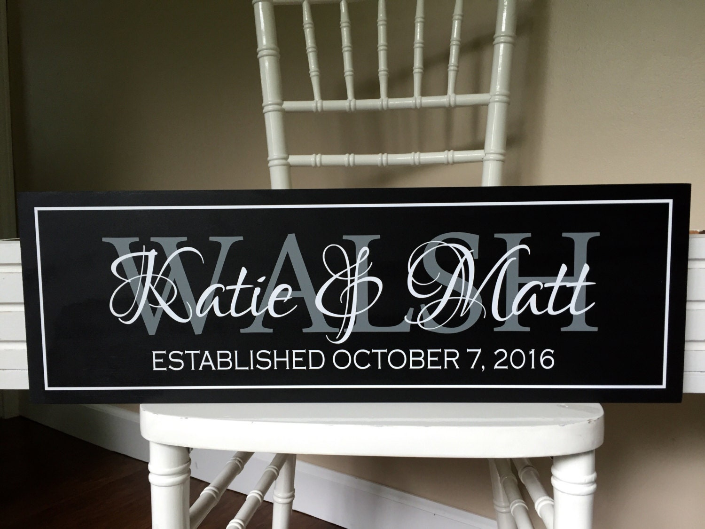Wedding Gifts Store: Wedding Established Sign-Wedding Gift-personalized Wedding