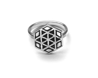 Six Pointed Star Ring