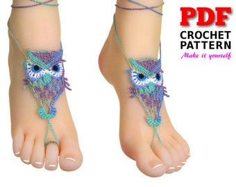 Barefoot Sandals | Crochet Pattern | Barefoot sandals Pattern | summer fashion | OWL