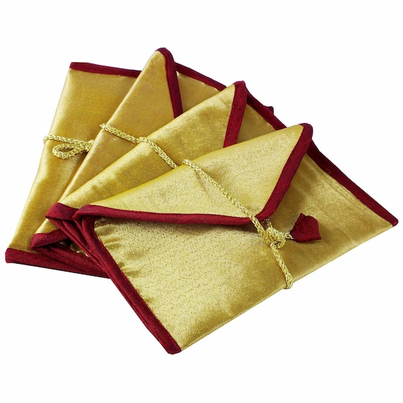 Red Wedding Gift Bags : Red and Gold Wedding Favor Bags - Wedding Gift - Giveaway - Wallet ...