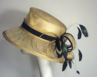 Gold and Black Kentucky Derby Hat