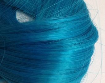 "PREORDER Large 2oz  blue raspberry  Monofiber 24"" Doll Hair for OOAK Custom Monster High My Little Pony Blythe"