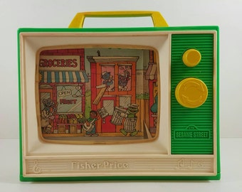 Vintage early 1980s Fisher Price Sesame Street Musical TV Toy