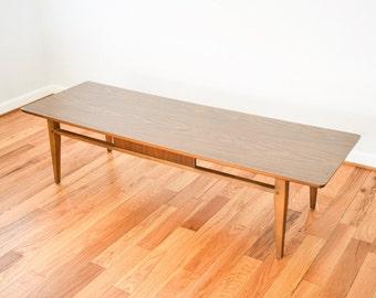 Mid Century Coffee Table, Modern Coffee Table, Wood Coffee Table, Beautiful  Wood U0026