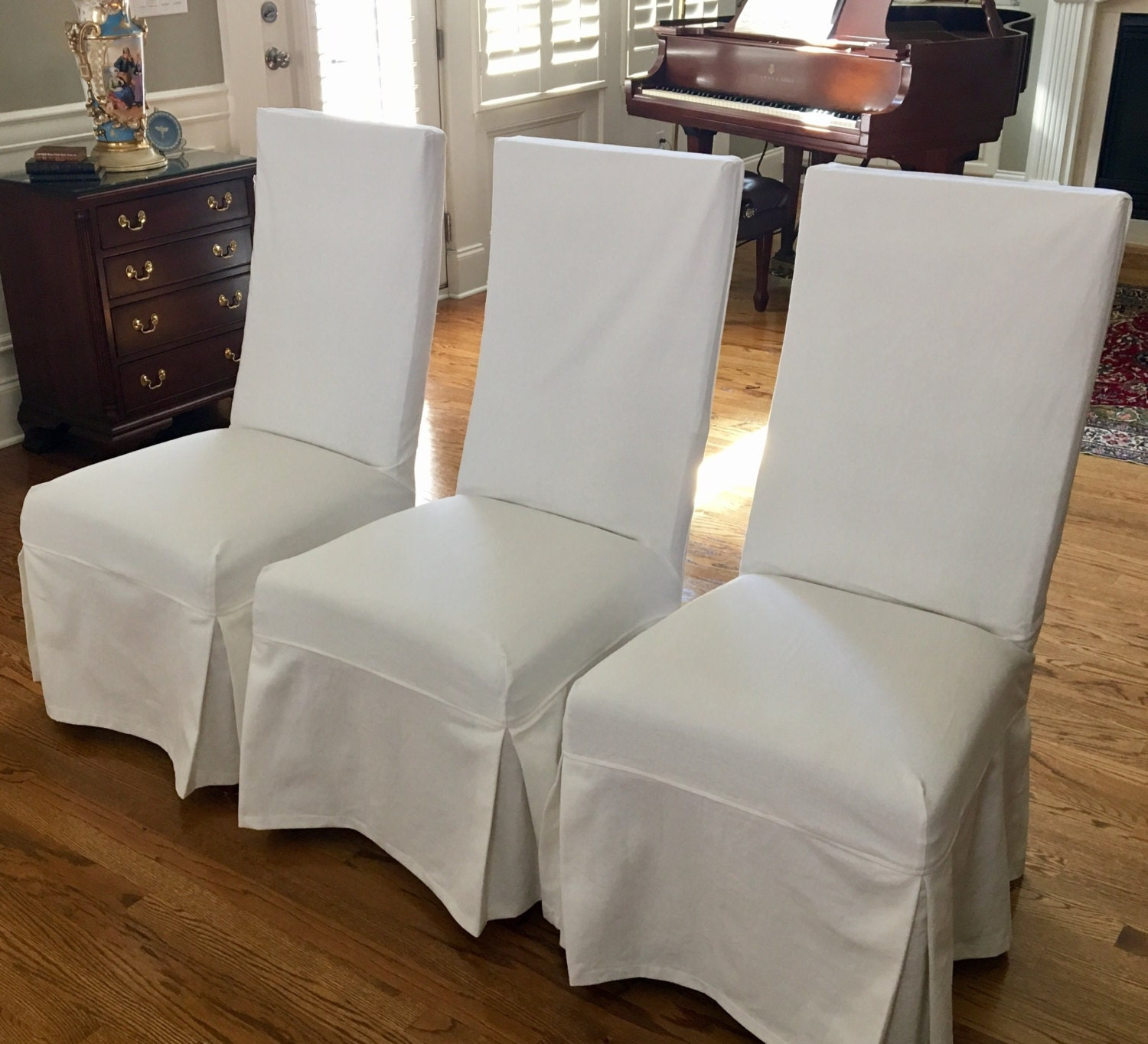 Dining Room Slip Covers: Custom Parsons Chair Slipcovers