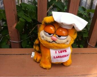 DAKIN Garfield the Cat Stuffed Animal Plush Toy 1981 Korea I love Lasagna