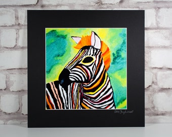 Zebra - 8.5x8.5 Giclée Print inspired by Beach House