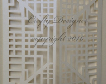 Bespoke Design Laser Cut Invitation Blank Code: CD016 X 30 Units