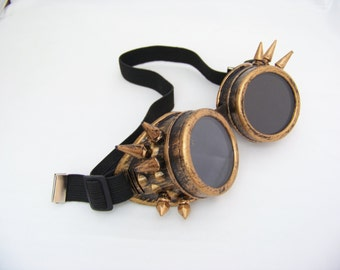 Bronze Spiked Steampunk Goggles 4505