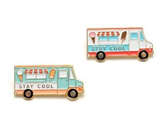 Ice Cream Truck Enamel Pin