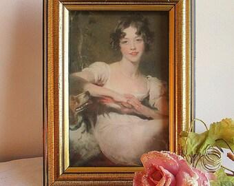 Vintage Antiqued Gold Picture Frame,Gold Frame,Vintage Picture Frame,Vintage Gold Picture Frame,Shabby Picture Frame,Bridal Picture Frame