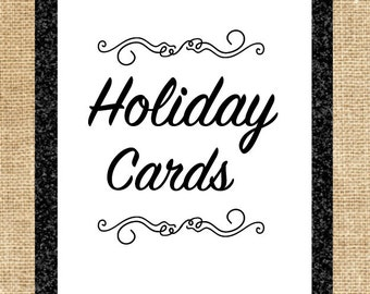 Printed Holiday Cards-Printed Cards and Envelopes