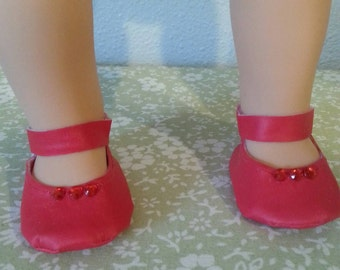 Handmade Red Doll Shoes fits 16-18 inch dolls