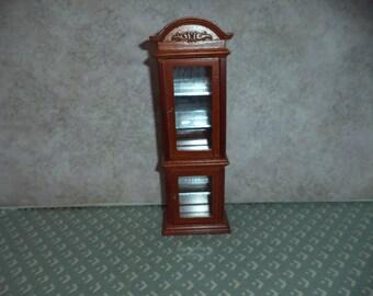 1:12 scale Dollhouse Miniature Walnut color Curio