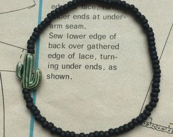 Cactus Beaded Bracelet