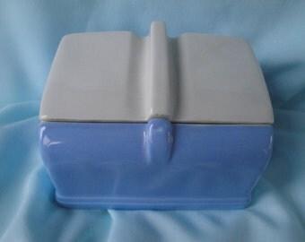 Hall China Company Coldspot Refrigerator Dish/Blue Refrigerator Dish
