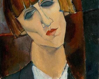 """Amedeo Modigliani : """"Madame Kisling"""" (c. 1917) - Giclee Fine Art Print"""