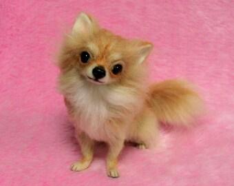Needle Felted Long Coat Chihuahua: Miniature Needle Felt Dog, Needle Felting