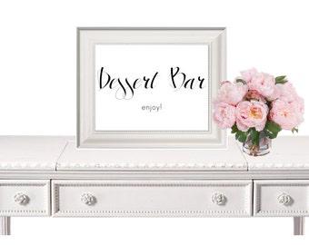 Dessert Bar Sign, Wedding Sign, Wedding Printable, Printable