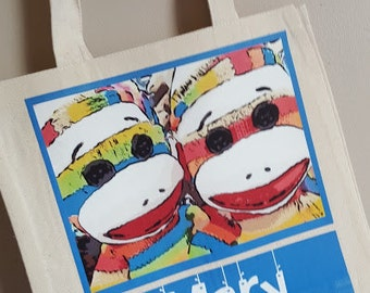 Tote, Bag, Purse, Canvas - Sock Monkey Personalized