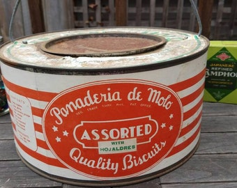 Panaderia de Molo Biscuit Collectable Tin, Storage, Kitchen Storage, Country Chic, Philippines, Cookie Collectable