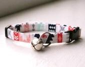 Tribal Cat Collar, Breakaway Cat Collar, Handmade Cat Collar, Girly Cat Accessories, Pet Accessories, Fabric Cat Collar, Southwest Native