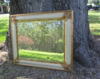 Shabby chic mirror, large mirror, ornate mirror, gold mirror, beveled mirror, shabby chic decor,wedding.traditioal style mirror,