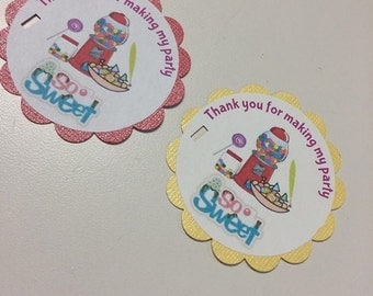 Sweet Shop Party Favor Tags