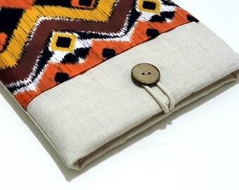 "ipad mini case, ipad mini sleeve, ipad mini 4 case, ipad mini 3 case, Custom 6""-8"" Tablet Sleeve padded with pocket- ikat"