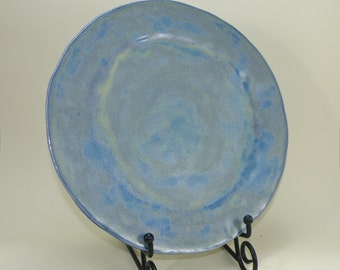 Large Handmade plate STONEWARE clay  High Fire Glaze