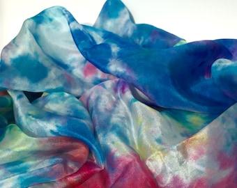 Silk Scarf, Tie Dyed 35cm x 130cm
